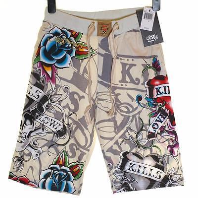 "Mens Ed Hardy Shorts Beach Lounge Sleep Pyjama Christian Audigier Rrp$99 W28-30"" Stabile Konstruktion"