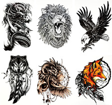c1ceb43ac item 3 Temporary Tattoos (Set of 6) Dragon/Fox/Wolf/Lion/Eagle/Skull/Tribal  Tattoo -Temporary Tattoos (Set of 6) Dragon/Fox/Wolf/Lion/Eagle/Skull/Tribal  ...