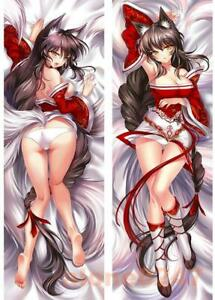 Details about Anime LOL Game League of Legends Ahri Otaku Dakimakura Hugging Body Pillow Case