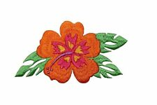 Buy id 6327 pink hibiscus flower patch exotic hawaii embroidered