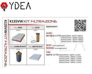 Filtres-Kit-D-039-Entretien-Audi-A3-I-8L1-VW-Golf-IV-1-9-Tdi-Skoda-Ydea-K135VW