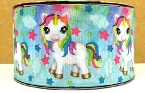 1.5 INCH GROSGRAIN RIBBON Hair Bow Supplies Wholesale Unicorn Stars Rainbow