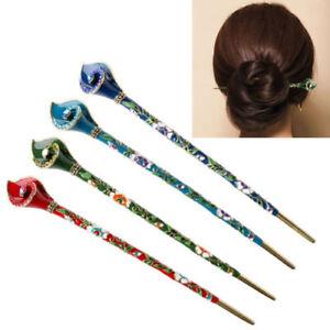 Retro-Women-Metal-Hair-Stick-Rhinestone-Hair-Chopsticks-Hairpin-Chignon-Pin