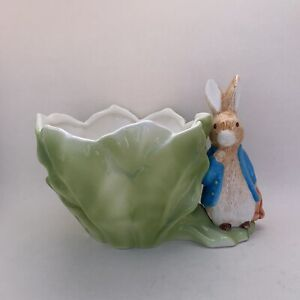 Vintage Ceramic Beatrix - Potter Peter Rabbit Planter Easter Decoration/Nursery