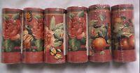 Lot Of 6 Sunworthy Floral & Fruit Trail Prepasted Wallpaper Border Kc063245b