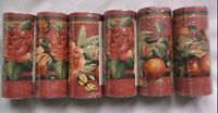 Lot Of 6 Sunworthy Floral & Fruit Trail Prepasted Wallpaper Border Kc063245b