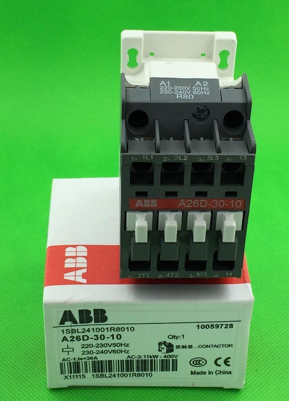 ABB Contactor A26D-30-10 220-230V ( A26D3010220230V ) New in box