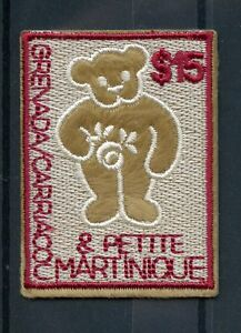 Grenada-Grenadines-2003-MNH-Embroidery-Teddy-Bears-1v-Embroidered-Stamp-Stamps