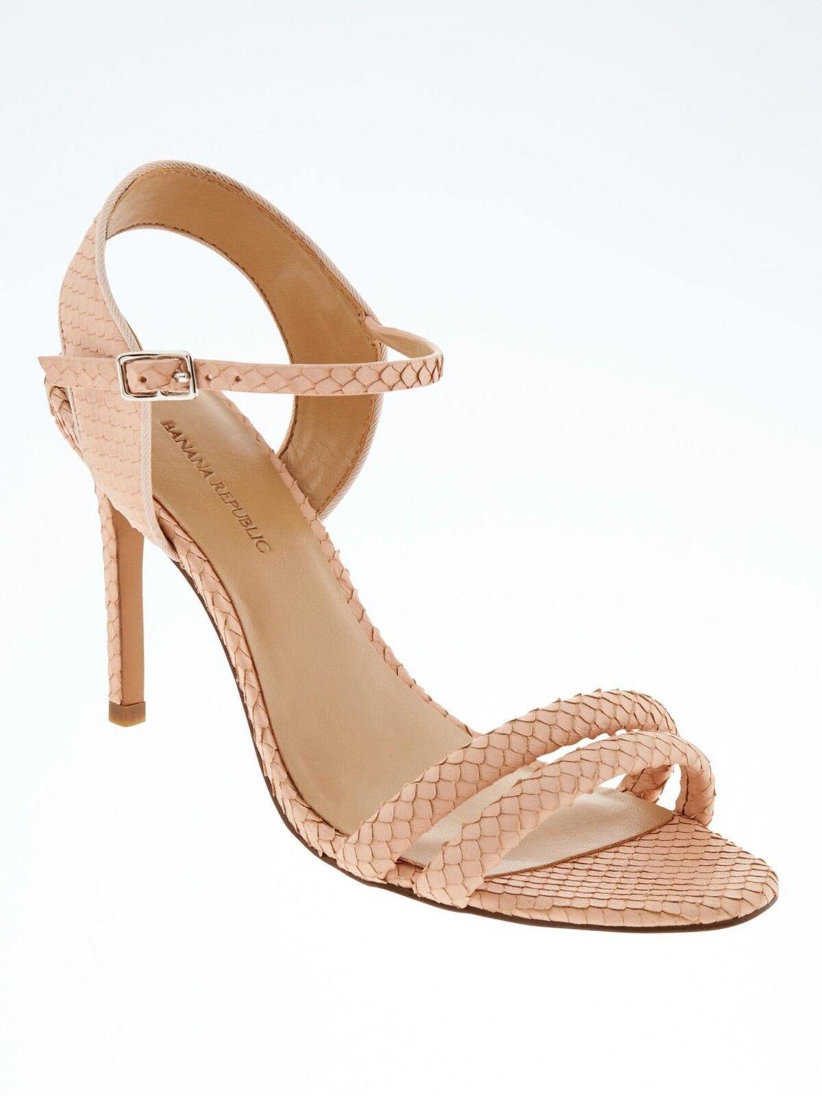 Banana Republic Double Strap High Heel Sandale,Pink blush SIZE 8 M #590352 E121