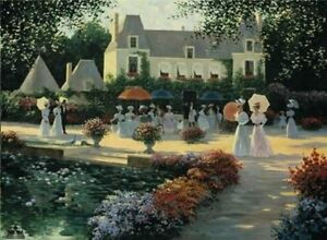 Luncheon-In-The-Country-by-Christa-Kieffer-Paris-Parisian-Street-Scene-Floral