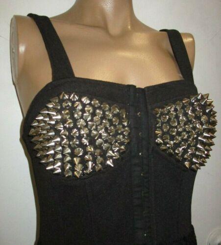 JAWBREAKER super SEXY dress 80's rocker black w SK