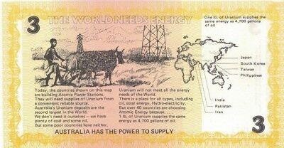 Australia $3  Propaganda Cinderella Note Energy Dollars Pro Uranium UR1977