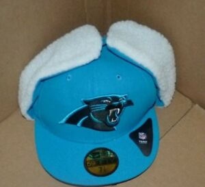 bce043982 NEW NFL Carolina Panthers Dog Ear Flat Brim Hat Cap FITTED 7 7 8 NEW ...