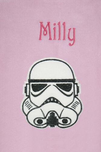 Star wars storm trooper personnalisé /& appliqué en polaire douce baby blanket