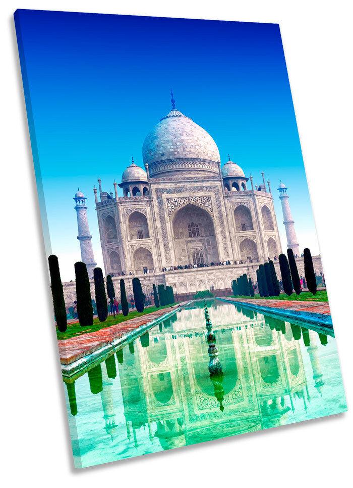 Taj Mahal India Landmarks Framed CANVAS WALL ART ART ART Print Picture db8576