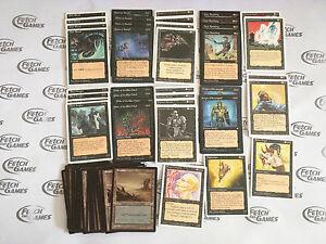 60-Card-Deck-MONO-BLACK-OLD-SCHOOL-Ready-to-Play-Rare-cards-Magic-MTG-FTG