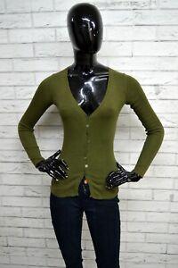 Cardigan-ALPHA-Donna-Taglia-XS-Pullover-Maglione-Sweater-Woman-Verde