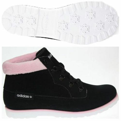 Adidas Seneo Taiga Neo Ortholite Neu Gr 38 2 3 3 3 Fleece Stiefel Stiefel Schwarz Suede 6a1f18