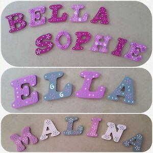 Details zu Kinderzimmer Holzbuchstaben Kinder Baby Name Buchstaben Tür Wand  Türschild 6