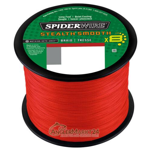 0,08€//m NEW Spiderwire Stealth SMOOTH 8 ab 50m alle Stärken /& Farben Schnur