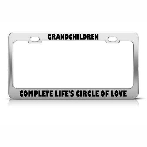 GRANDCHILDREN COMPLETE LIFE/'S CIRCLE LOVE LICENSE FRAME STAINLESS