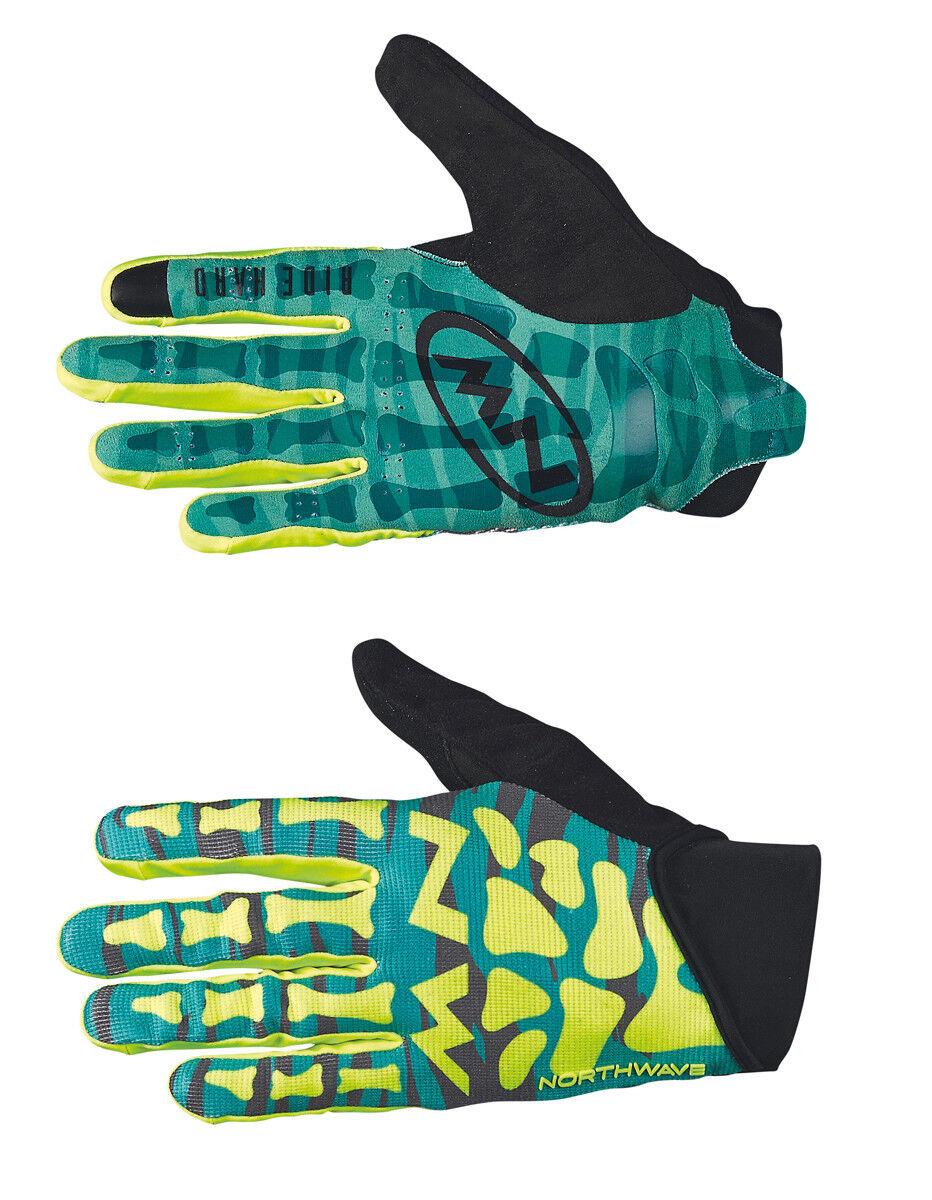 Northwave Skeleton Fahrrad Handschuhe lang green yellow 2018
