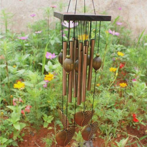 Garden Home Ornament Chimes Bells Copper Large Wind Chime Ornament Gift US