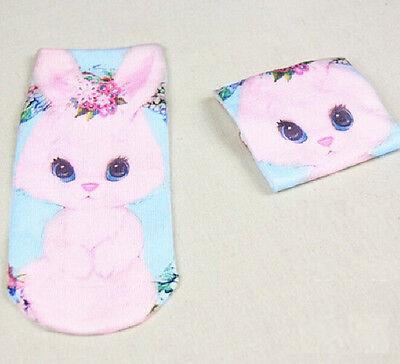 FD882 Japanese Harajuku Cartoon Animal Fashion Print Socks ~Cute Rabbit 1 Pair:)