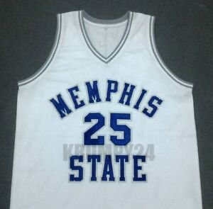 pretty nice e9efe 520b1 Details about PENNY HARDAWAY Memphis State White Basketball Jersey Gift Any  Size