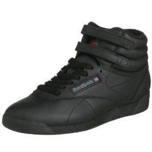 Details zu REEBOK FREESTYLE Hi schwarz Damen Sneaker Classic Laufschuhe 2240