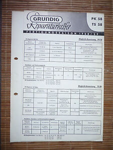 Aufrichtig Service Manual Für Grundig Pk 58,ts 58 Tv, Video & Audio original Von Der Konsumierenden öFfentlichkeit Hoch Gelobt Und GeschäTzt Zu Werden