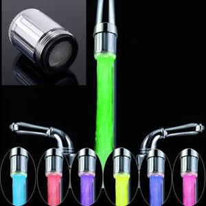 Led Wasserhahn Armatur Licht Mit Temperatur Sensor Für Küche Bad 7