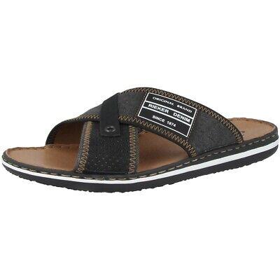 Rieker 21064 01 Sandalen Herren Pantoletten Antistress Schuhe Freizeit Slipper | eBay