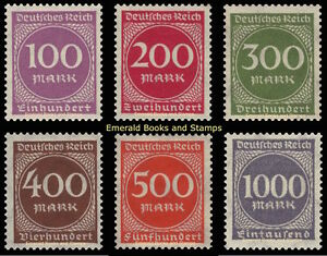 EBS-Germany-1923-Inflation-Number-in-Circle-set-I-Michel-268-273-MNH