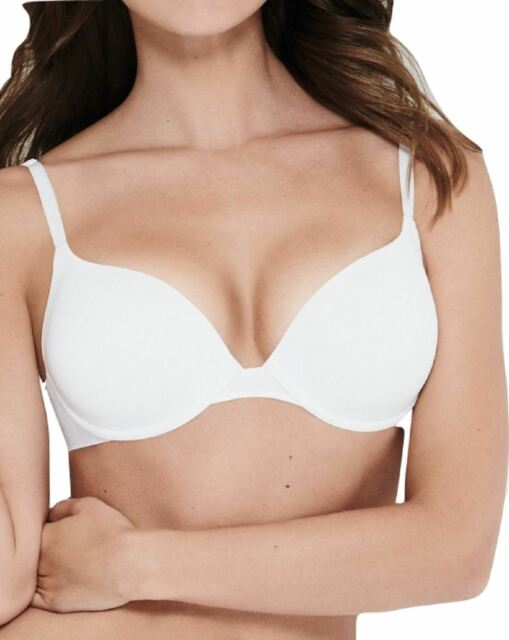Wonderbra Modern Chic  Padded Moulded Cup Lace T Shirt Bra  White  plus one size