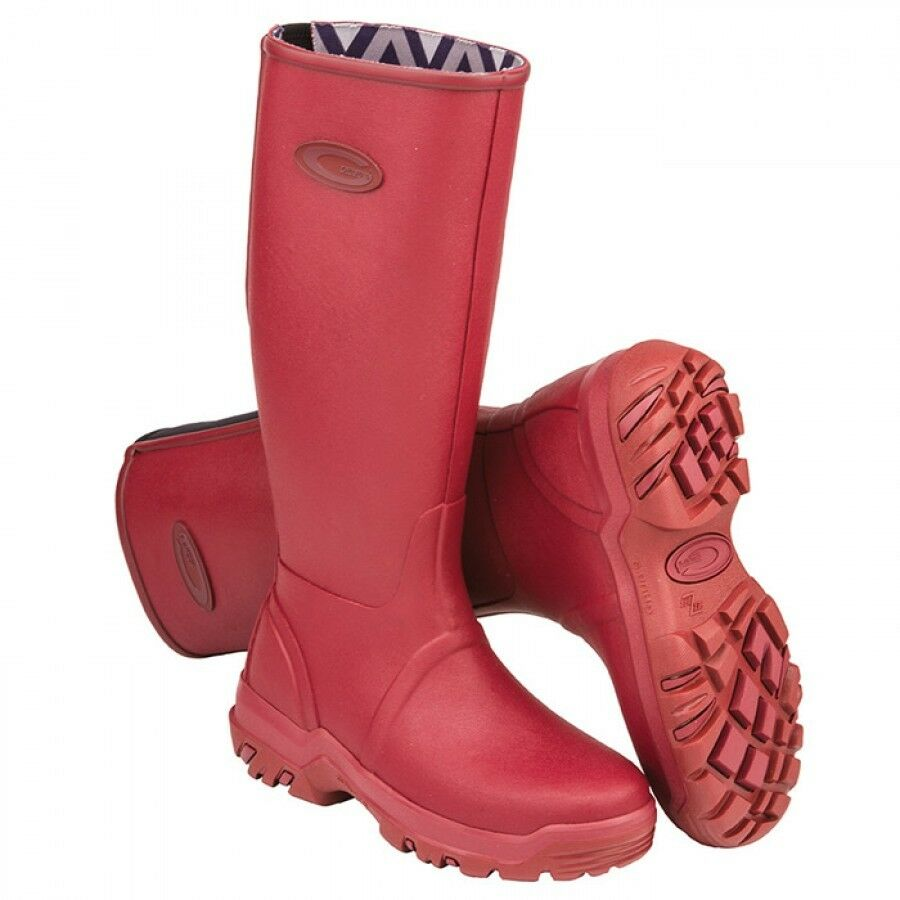 Grubs-Rainline-Wellington-Boots- In pinkwood New for 2017 2018 Season