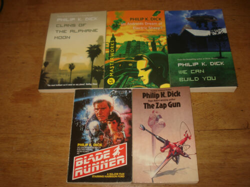1 of 1 - Philip K. Dick.x 5 paperbacks including the ZAP GUN AND BLADE RUNNER