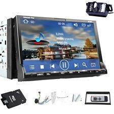 "High Def In Dash Headunit 7"" 2 Din GPS Navigation System Car DVD Player+Camera"