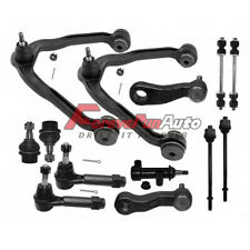 13pc Upper Control Arm Tie Rod Ball Joint Pitman Idler Arm Sway Bar Links 8-Lug