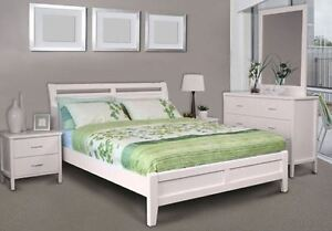 pretty nice ab780 c7ceb Details about NEW KING SIZE BED FRAME - SOLID TIMBER SAVANNA KING WHITE BED  FRAME