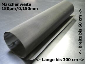 Stainless Steel Wire Mesh For Drum Filter Curved Screen Etc 0,150mm 150µm up To