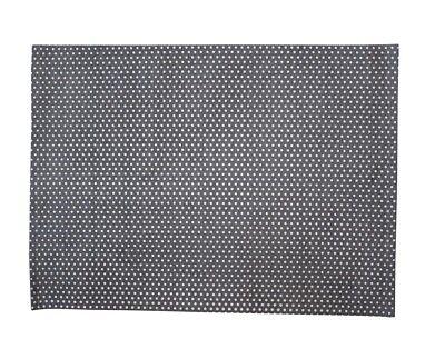Krasilnikoff Tischset PUNKTE Hellgrau Baumwolle Platzset Grau Weiß gepunktet
