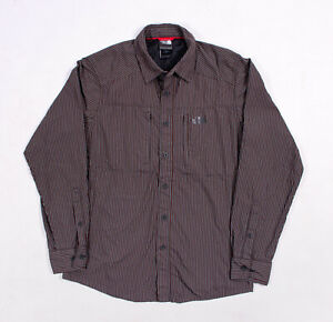 8f8acf292 Details about The North Face Mens Long Sleeve Striped Technical Hiking  Shirt - Small - EC