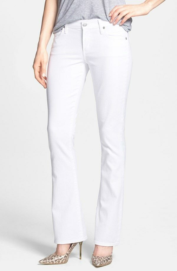 NWT CITIZENS OF HUMANITY Emannuelle Petite Slim Bootcut in White - 31