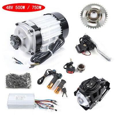 48V 500//750W Brushless Geared Motor Electric Tricycle Engine Motor E-Bike Set