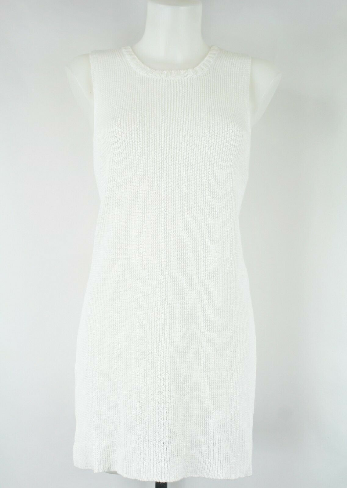 Margaret Oleary White Knit Tank Size Small