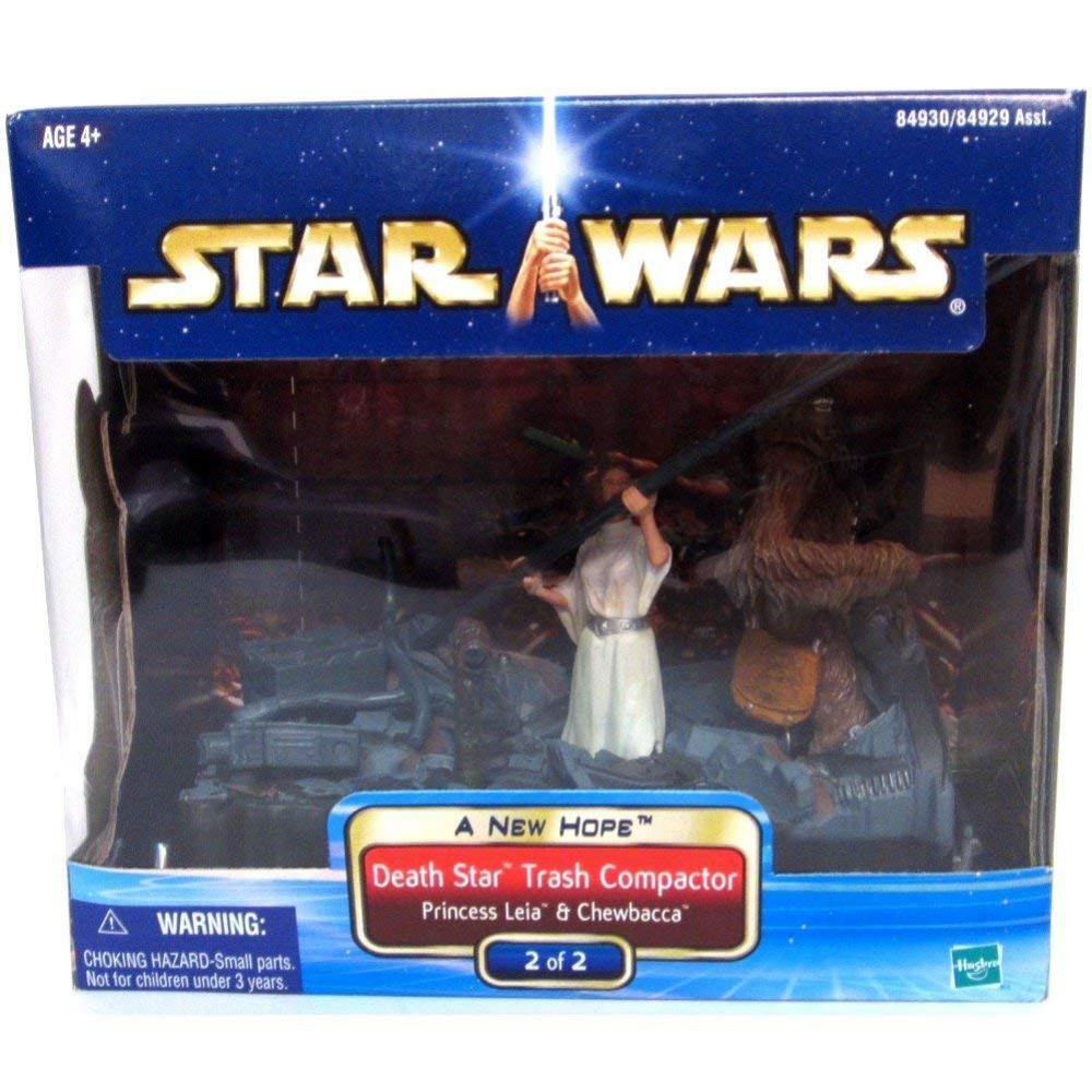 Leia and Chewbacca Death Star Trash Compactor A New Hope Wars Diorama  2