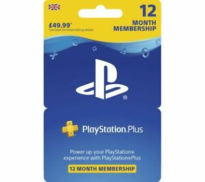 SONY PlayStation Plus 12 Month Subscription - Currys