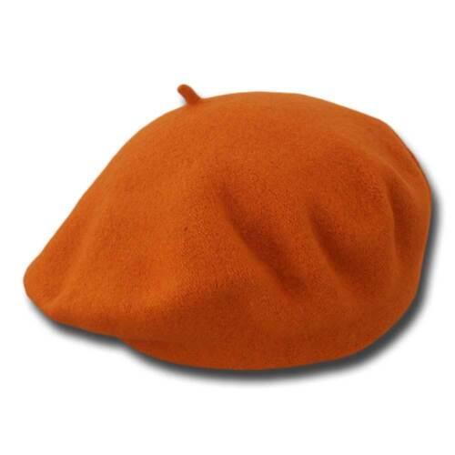 Basco unisex pura lana piatto 28 cm Margie arancione
