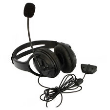 Big Live Headset Headphone With Microphone for XBOX 360 Slim NEW US Black